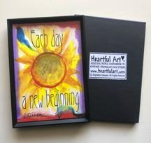 Heartful Art by Raphaella Vaisseau Treat people as if they were 2x3 Goethe magnet
