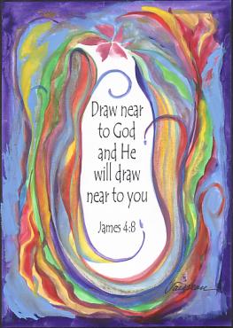 Heartful Art Online Draw Near To God James 4 8 Poster 5x7