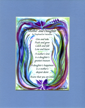 Heartful Art Online: Mother and Daughter original poem (8x10