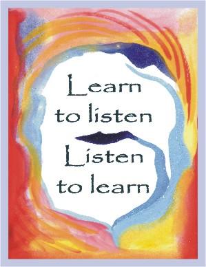 Heartful Art Online Learn To Listen Listen To Learn Aa