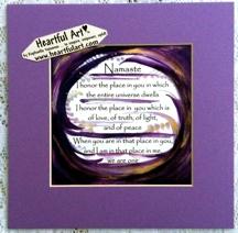 Heartful Art Online Namaste Quote 8x8 Heartful Art By