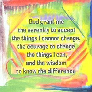 Heartful Art Online: God grant me ... Serenity Prayer AA ...