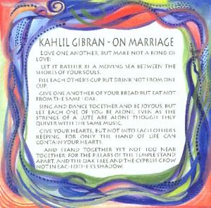On Marriage Kahlil Gi N Quote X Heartful Art By Raphaella Vaisseau