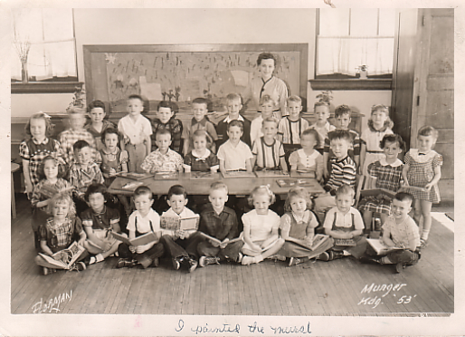 At Munger Elementary in 1953, Raphaella's teacher believed her to be an artist already - Duluth, Minnesota